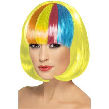 Partyrama Wig, 12 Inch, Yellow/Pride
