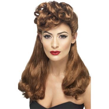 40's Vintage Wig,Auburn