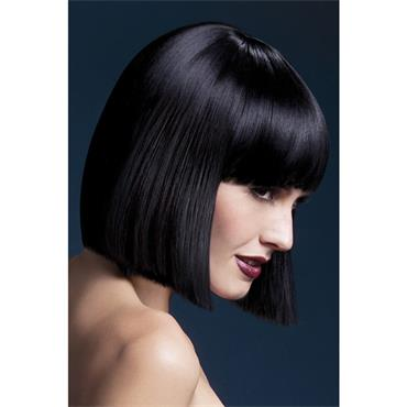 Fever Lola Wig short Blunt Cut Black