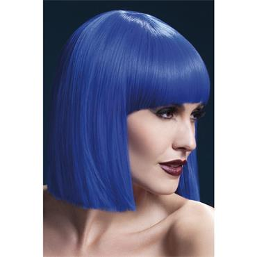 Fever Lola Wig Short Blunt Cut Str Blue