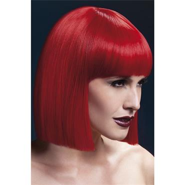 Fever Lola Wig Short Blunt Cut Str Red