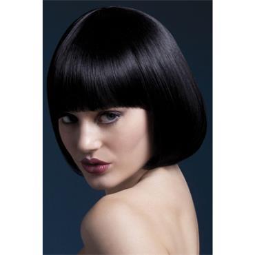 Fever Mia Wig  Short Blunt Cut Black
