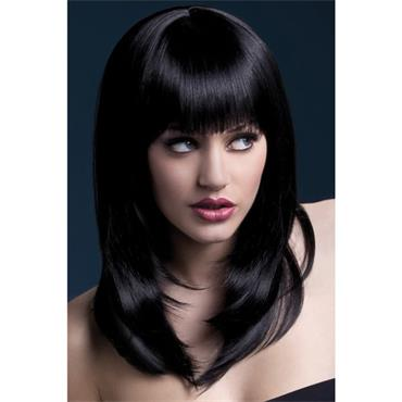 Fever Tanja Wig Long Wavy w/fringe - Black