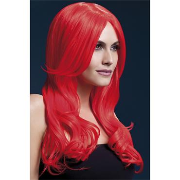 Fever Khloe Wig - Neon Red Long