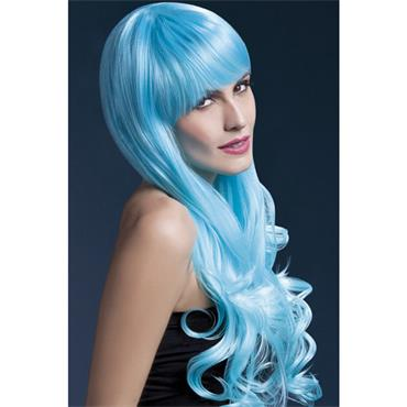 Fever Emily Wig Long Curly 2 Colour - blue