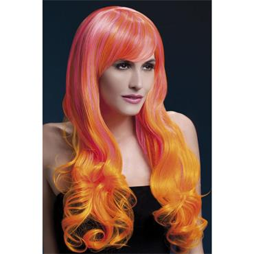 Fever Emily Wig Long Curly 2 Colour - Pink