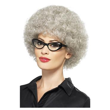 Granny Perm Wig, Grey