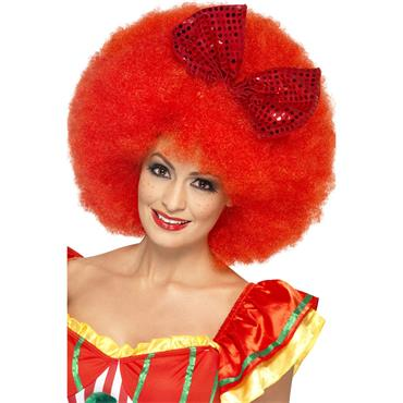 Afro Clown Wig - Red