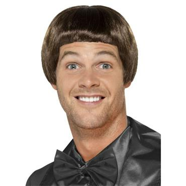 Brown 90s Bowl Cut Wig