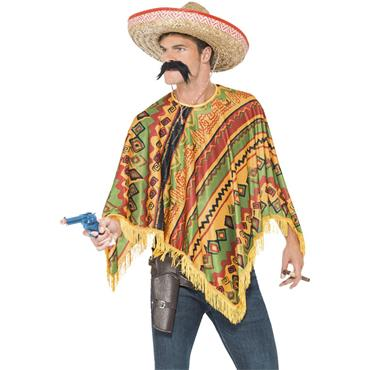 Poncho Instant Kit, with Moustache