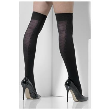 Black Opaque Hold Ups