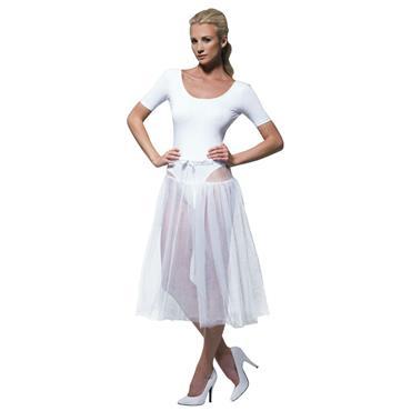 Adjustable White Pettticoat