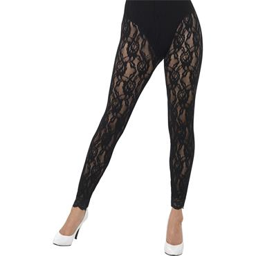 80's Lace Leggings - Black