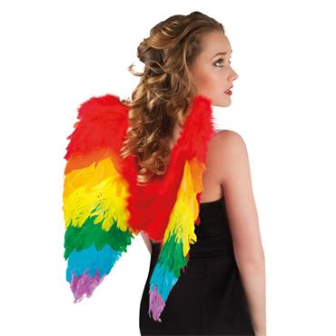 Rainbow Foldable Angel Wings - Pride