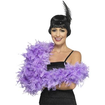 Deluxe Feather Boa - Lilac Purple