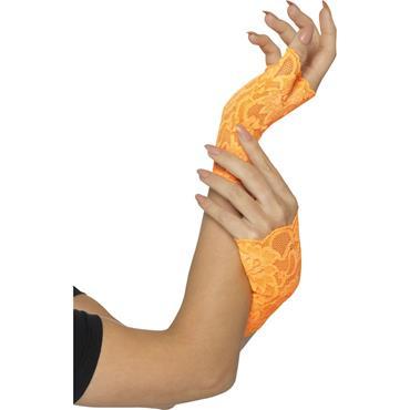 Fingerless Gloves Neon Orange