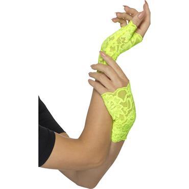 Fingerless Gloves Neon Green