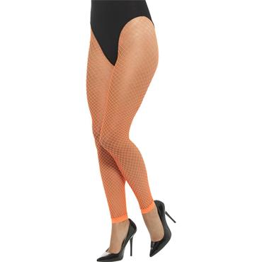 Net Tights Neon Orange