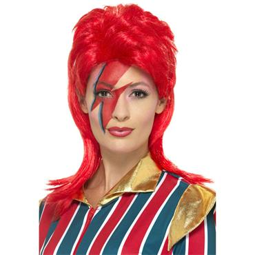 Space Superstar Wig-Red