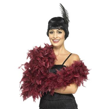 Deluxe Feather Boa - Burgundy
