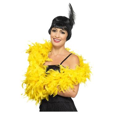 Deluxe Feather Boa - Yellow