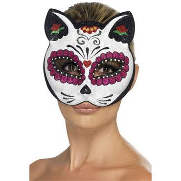 Sugar Skull Cat Eyemask