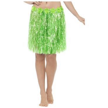 Green Hawaiian Hula Skirt