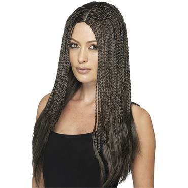 90's Braid Wig, Brown