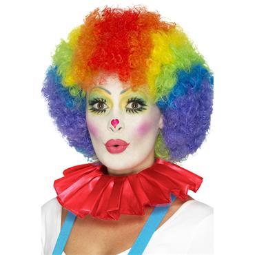 Clown Neck Ruffle-Red