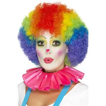 Clown Neck Ruffle-Pink