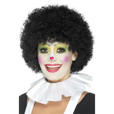 Clown Neck Ruffle-White