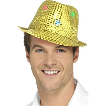 Light Up Sequin Trilby Hat-Gol