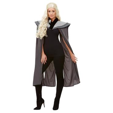 Ladies Medieval Cape, Grey
