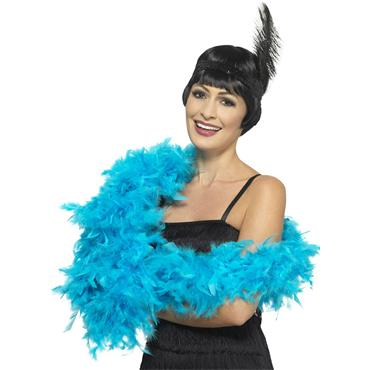 Deluxe Feather Boa - Turquoise Blue