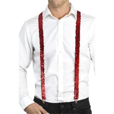 Sequin Braces-Red