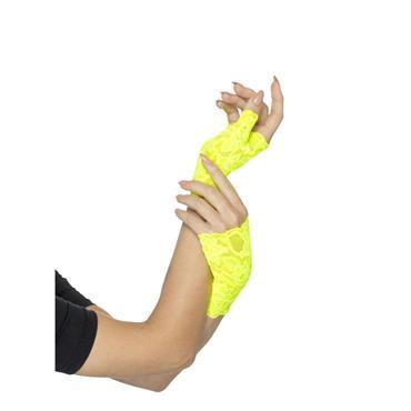 Fingerless Gloves Neon Yellow