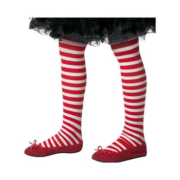 Striped Tights Child Red & White