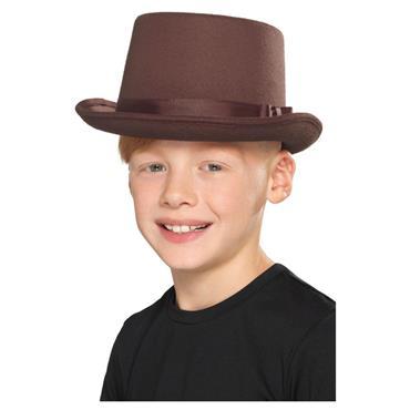 Kids Top Hat Brown