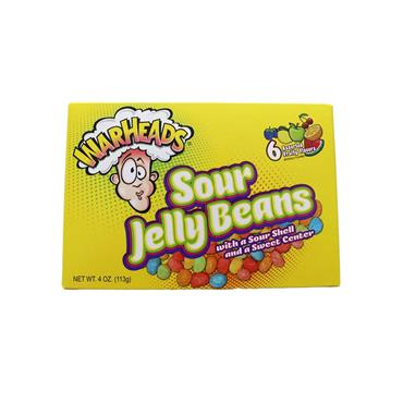 Warheads - Sour Jelly Bean Sweets (113g) - Theatre Box