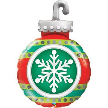 "35"" Snowflake Ornament Shape Foil Balloon"