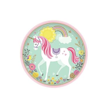 Unicorn Plates 23cm (8pk)