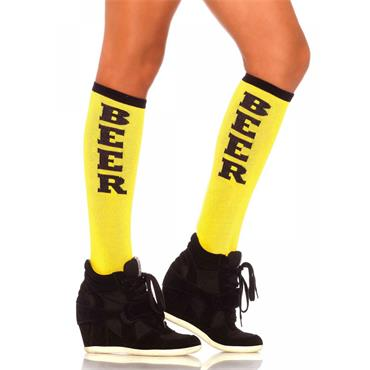 Beer Run Acrylic Knee Socks