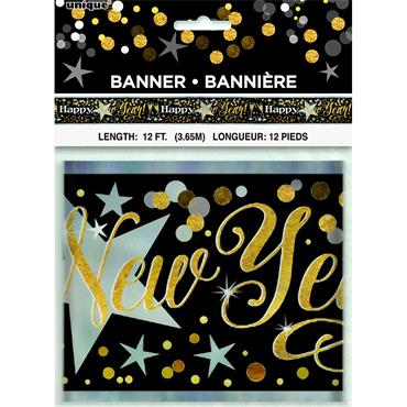 New Year Glittering Banner 12ft