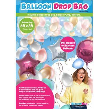 6ft x 3ft Balloon Drop Bag c/w Balloons