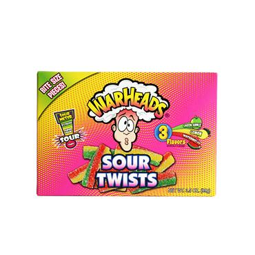 Warheads - Sour Twists Sweets (99g) - Theatre Box