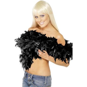 Budget Feather Boa - Black