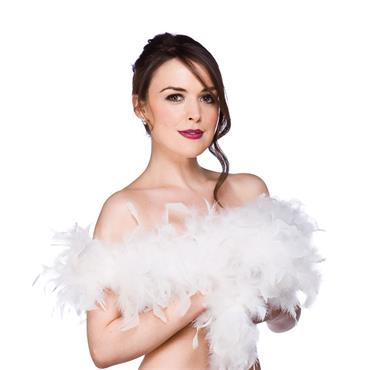 Budget Feather Boa - White