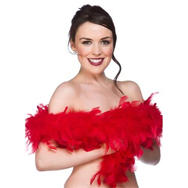 Budget Feather Boa - Red