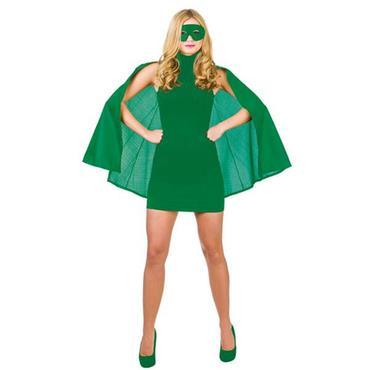 Superhero Cape & Mask - Green