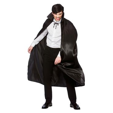 Deluxe Black Satin Cape (Adult